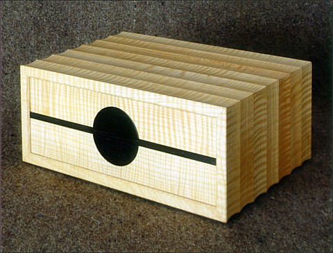Fluted jewellery box with two drawers