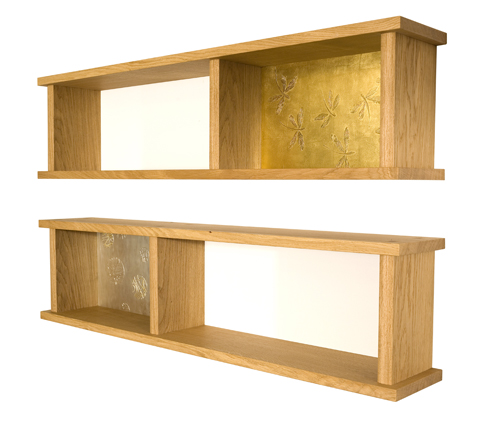 Shelves with Gilded Panels